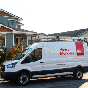 AAA House Manager van infront of house